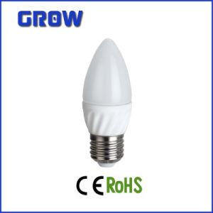 LED Lamp E27 C37 Ceramic Warm White LED Candle Bulb pictures & photos