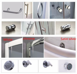 Sliding Door Shower Cabin with Tempered Fabric Glass pictures & photos