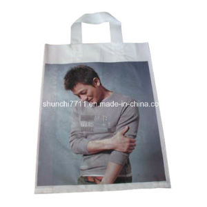 Plastic Soft Loop Handle Bag for Clothes Packing pictures & photos