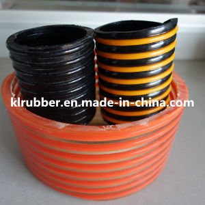 Spiral Flexible PVC Reinforced Discharge Hose with Different Color pictures & photos