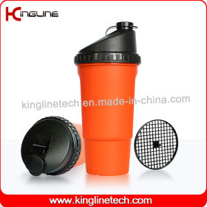 600ml Plastic Protein Shaker Bottle with Filter (KL-7016) pictures & photos