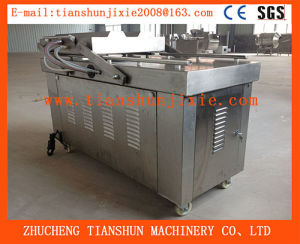Double Chamber Full Automatic Food Vacuum Packing Machine for Meat, Aquatic Products Processing Dz-500 pictures & photos