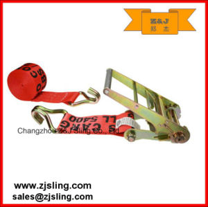 "Ratchet Strap/Lashing with W/ Wire Hooks 4"" X 20′ Red pictures & photos"