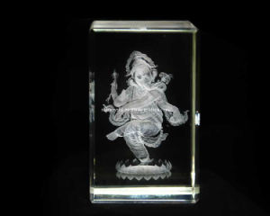 3D Ganesha-Natraj Crystal Cube for Hindu Souvenir Gift (R3017) pictures & photos