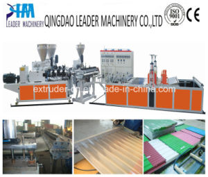 PVC/UPVC Corrugated/Waved Roofing Tiles/Sheets Extrusion Line pictures & photos