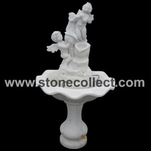 Hand Carved Pure White Marble Fountain pictures & photos