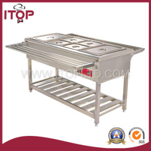 Keep Warmer Commercial Free Standing Bain Marie (BS) pictures & photos