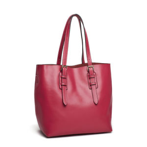 Guangzhou Manufacturer Pure PU Leather Lady Shopping Bag (XD140257)