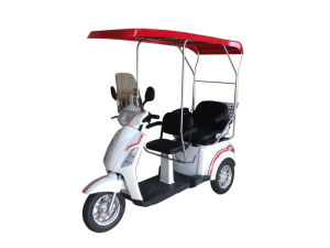 Two Seat for Disable Person1000watt 60V 20ah CE Electric Tricycle pictures & photos
