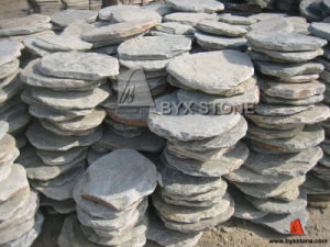 "Natural Grey Slate Tumbled ""Crazy"" Stone Irregular Shape Paving pictures & photos"