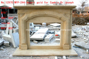 Egypt Cream Beige Antique Marble Fireplace Sy-Mf317 pictures & photos