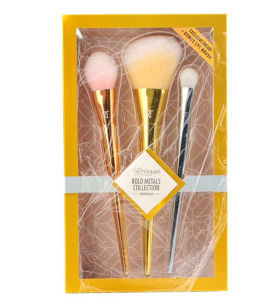 3PCS High Quality Cheapest Convinent Metal Handle Plastic Handle Professional Real T Makeup Brushes Set