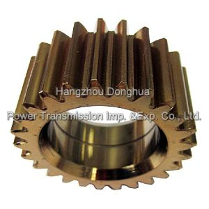 Yellow Zinc Plated Spur Gear pictures & photos