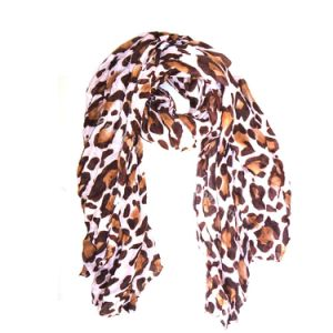 Hot Sale Big Leo Print Viscose Polyester Lady Scarf 6 Colors pictures & photos