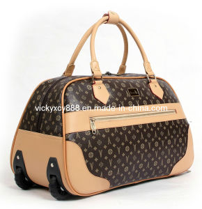 PU Wheeled Trolley Luggage Travel Bag Case Bag (CY9910) pictures & photos