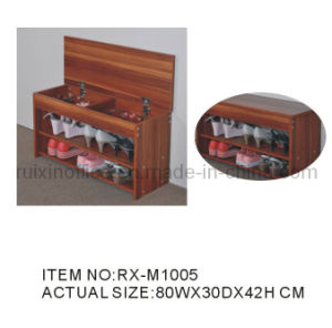 Modern Shoe Rack with Top Opening Door (RX-M1005)