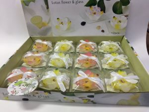 12PCS Multi Color Lotus Tea Light in Blister Box pictures & photos