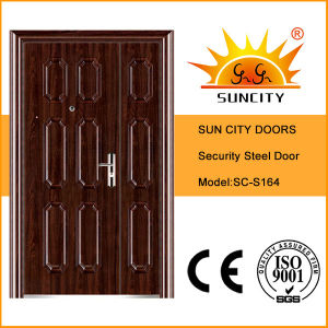 Sc-S164 Good Sales Son and Mother Security Entry Steel Doors pictures & photos