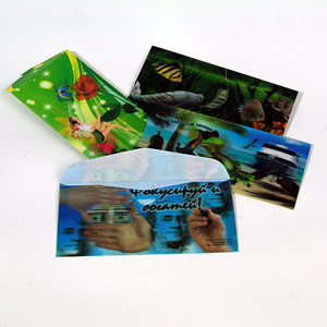 High Quality 3D Flips Effect Plastic Wallet pictures & photos