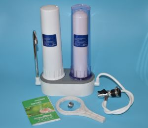 Countertop Dual Stage Water Filter/Purifier with Ceramic Candle Combined Carbon Block Material pictures & photos