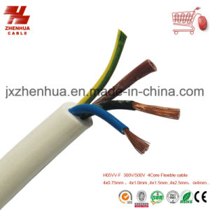H05VV-F Flexible PVC 4 Core Flexible Cable pictures & photos