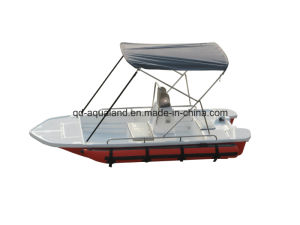 Aqualand 13feet 4m Fiberglass Speed Boat/Fishing Boat with Portable Pontoon Air Tubes (130) pictures & photos