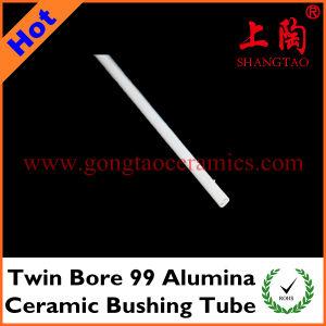 Twin Bore 99 Alumina Ceramic Bushing Tube pictures & photos