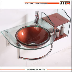 Bathroom Glass Vanity Sink (TH70847) pictures & photos