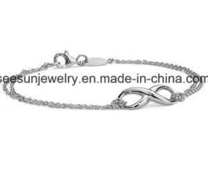 Hotsale Fashion Jewelry 925 Silver Plain Silver Infinity Bracelet pictures & photos