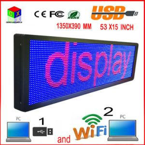 "P10 53 ""X15"" RGB Outdoor LED Display / Programmable Computer′s Wireless / USB / Mobile Wireless Signs pictures & photos"