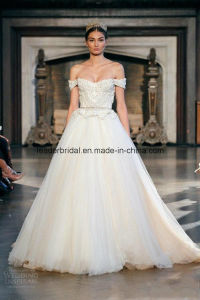 off-Shoulder Bridal Wedding Dresses Applique Tulle Ball Gowns Z2036 pictures & photos