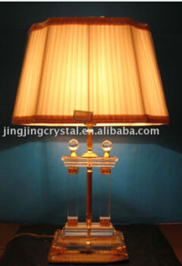 Classical Clear Ball Crystal Table Lamp with Shade in China pictures & photos