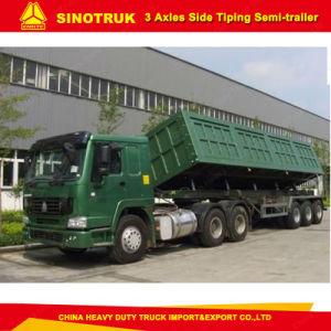 30cbm 3 Axle Dumper Trailer Rectangular Shape Tipping Trailer pictures & photos