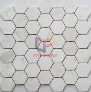 Volakas White Marble Hexagon Shape Mosaic (CFS962) pictures & photos