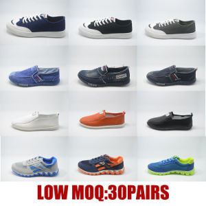 Low MOQ Women Men Canvas Casual School Injection Stock Shoes pictures & photos
