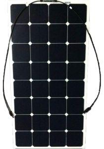 High Efficiency Sunpower Mono Cell Semi Flexible Solar Panel 100W pictures & photos