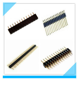 Manufacturer Custom 1.27mm 2.54mm Single Row Pin Header for PCB pictures & photos