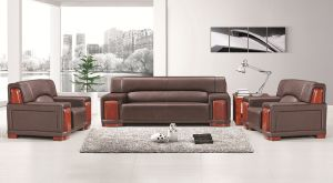 Commercial Furniture Leather Office Sofa (FOH-8005) pictures & photos