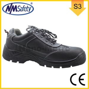 Nmsafety Cow Split Men′s Low Cut Work Shoes pictures & photos