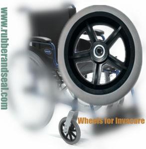 Rubber Wheel/Medical Wheel for Wheelchair/Caster Wheel