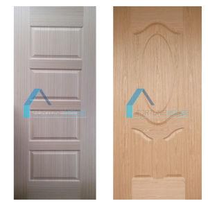 Engineerd Teak and Cherry Wood Veneer Faced HDF Door Skin pictures & photos