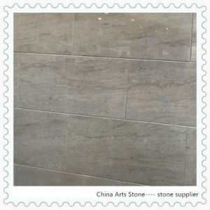 Grey Beige Line Marble Tile for Floor pictures & photos