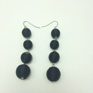 Fashion Black Threaded Ball Earring Under Fishhook pictures & photos