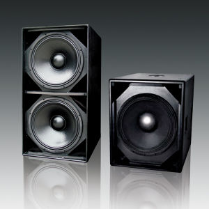 "Dual 18"" High Power Subwoofer PRO Audio (F-218S) pictures & photos"