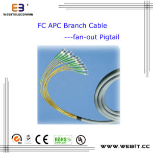 FC APC Branch Cable Fan-out Fiber Optic Pigtail pictures & photos