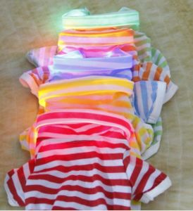 Colorful LED Collar Light Stripes Pet Dog Clothing (HN-PC721) pictures & photos
