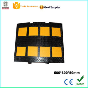 Black and Yellow Rubber Speed Hump with CE pictures & photos