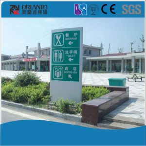 Customized Double Sides Way Finding Pylon pictures & photos