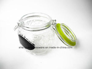 Classic Honey Glass Jar /Gift Jar /Storage Jar with Airtight Glass Lid pictures & photos