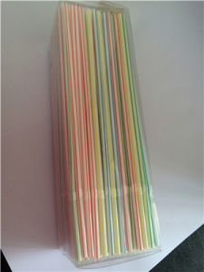 Disposable Striped Plastic Drinking Straw PVC Box Pack Unit pictures & photos